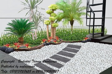 Medium desain taman kering belakang green lake city