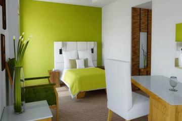 Medium kombinasi warna putih hijau cat dinding rumah