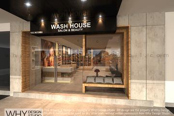 Medium de wash house salon front facade