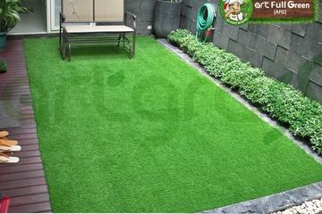 Medium rumput sintetis taman artgrass taman kering belakang