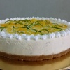 Thumb key lime cheesecake with colorful topping