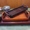 Thumb bamboo tray