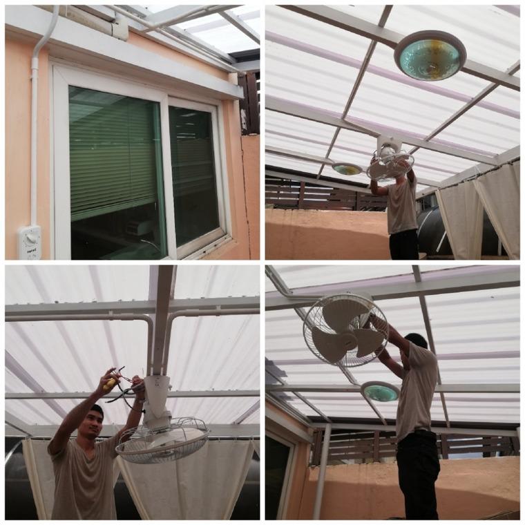 เเสงสว่าง+พัดลมเพดาน by ช่าง supakorn -  - Helpdee.com