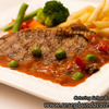 Thumb beef steak saus barbeque