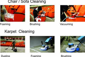 Medium upholstery cleaning