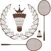 Thumb free vector silhouette badminton racket and shuttle 569044