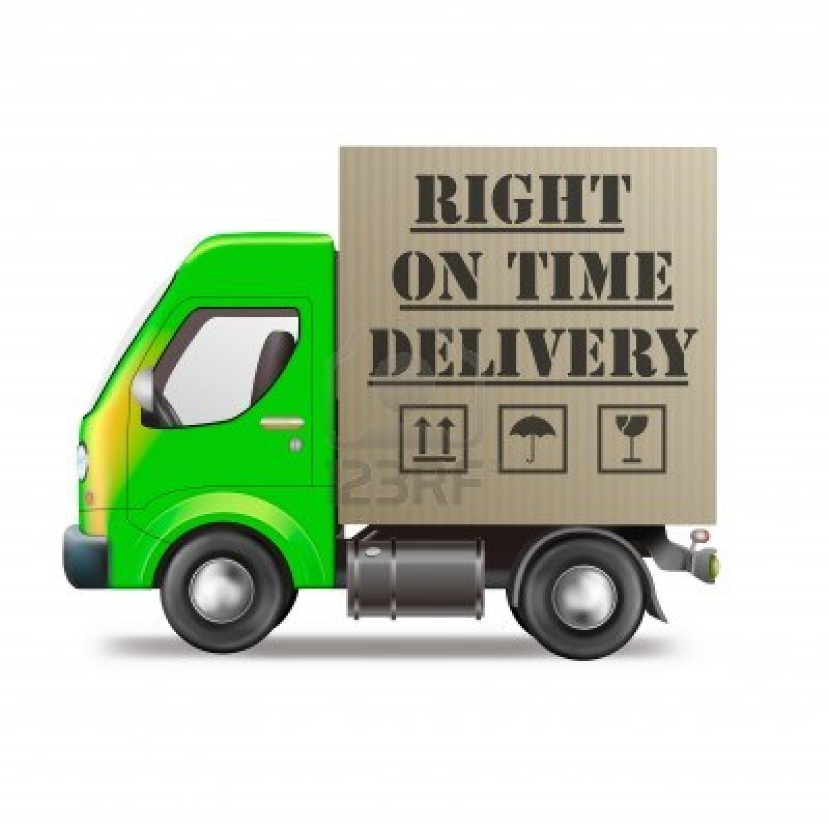 9387511 right on time delivery truck logistics icon