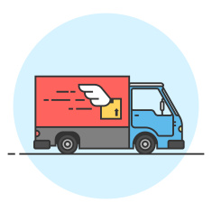 Stock illustration 84620009 delivery truck goods delivery car