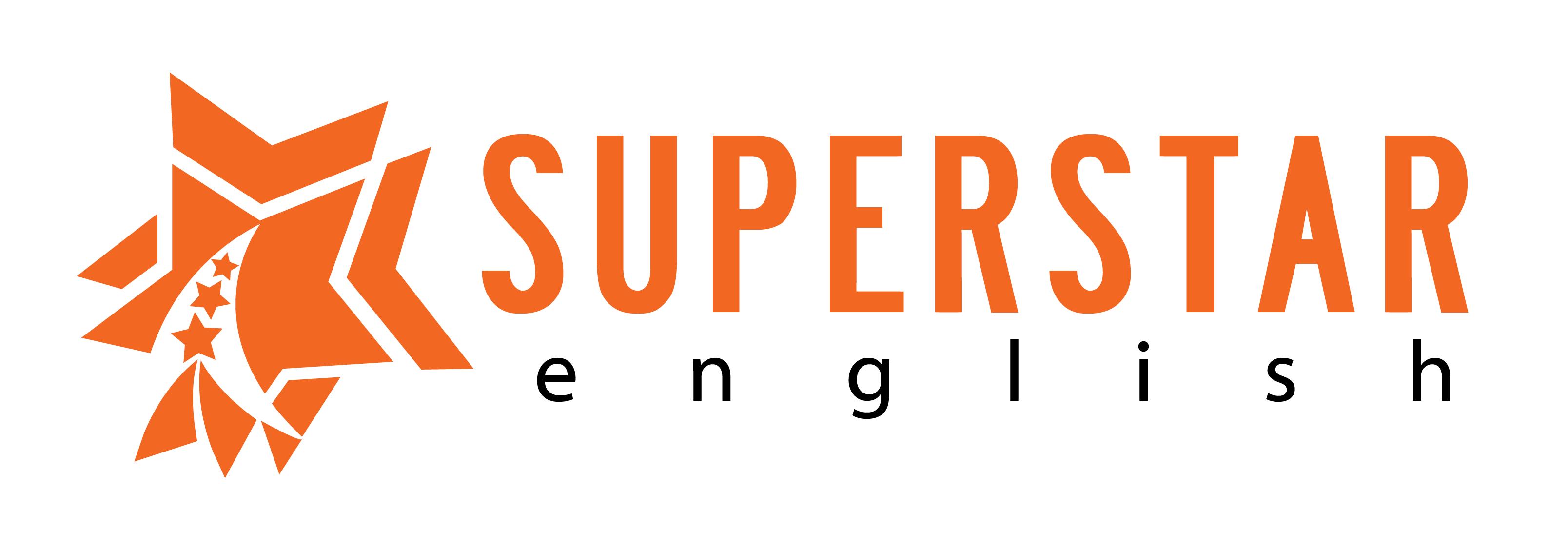 Superstar english logo white