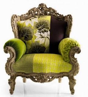 Kursi ukir hijau